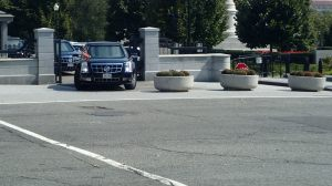 President Obama leaving the White House!